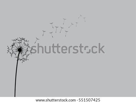 A Abstract Dandelion Background Illustration