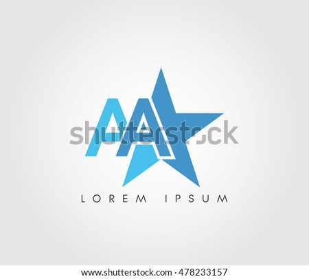 star initial letter logo websites apps stock vector royalty free