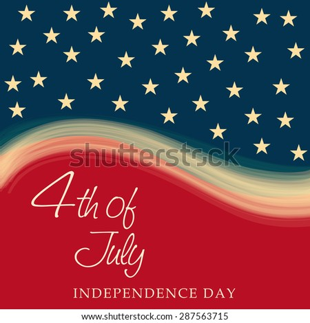 A awesome greeting card for U.S.A. Independence Day.