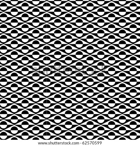 A b/w vector pattern made from circles and squares. - stock vector