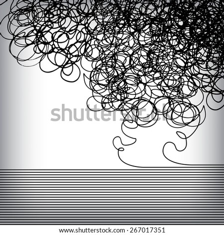 A background where hand drawn meets precision - stock vector