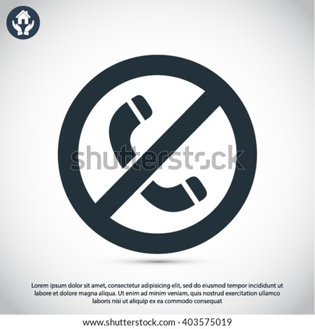 A ban on the phone  icon, a ban on the phone  vector icon, a ban on the phone  icon illustration, a ban on the phone  icon eps, a ban on the phone  icon jpeg, a ban on the phone  icon picture - stock vector