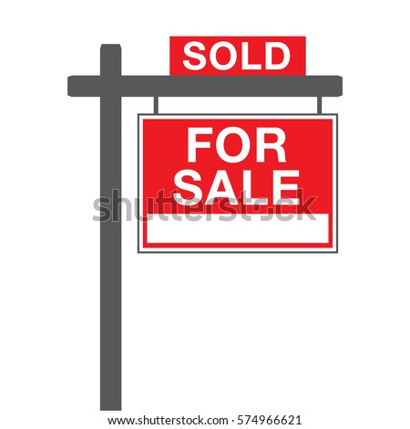 House sold sign stock images royalty free images for Real art for sale