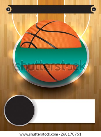 A basketball tournament template illustration. File is layered. Vector EPS 10. EPS file contains transparencies and gradient mesh. - stock vector