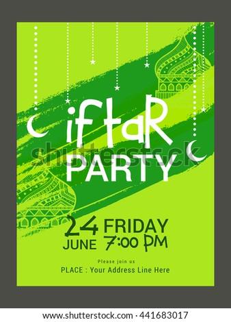 Beautiful invitation card iftar party dinner stock vector 441683017 a beautiful invitation card for iftar party dinner celebration stopboris Choice Image