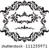 A beautiful set of vintage frames. Vector. - stock vector