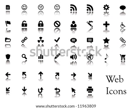 A big collection of web icons. You can find buttons from these icons in my portfolio. - stock vector
