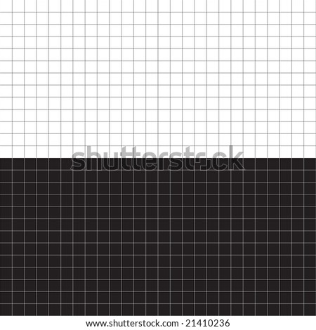 A black and white grid layout - plenty of copyspace.  This vector is fully editable. - stock vector