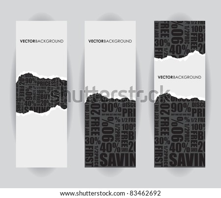 a black ripped sale sign - stock vector