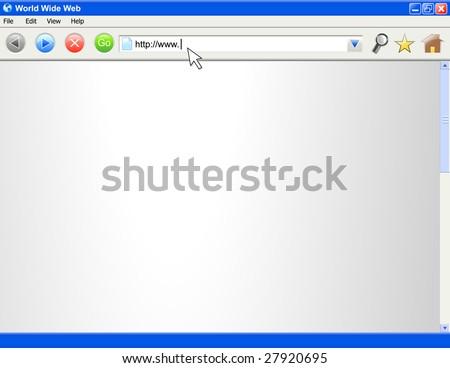 A blank computer internet browser screen. - stock vector