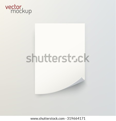 A4 blank sheet background. Vector background.