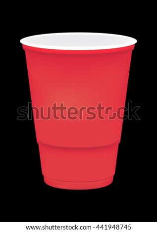 a blank soft drink cup  - stock vector
