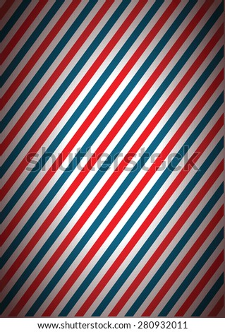 a blue and red stripped line background - stock vector