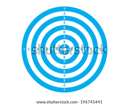 A Blue and White Target. Vector - stock vector