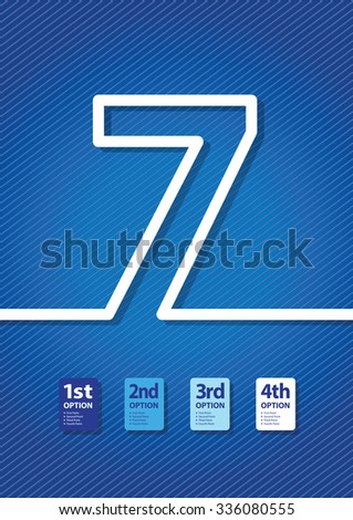 a blue number background - stock vector
