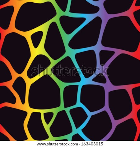 A bright multicolored giraffe spotted background. Seamlessly Repeatable. Eps 10 Vector. - stock vector