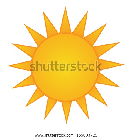 Vector sun icon flat style shadow stock vector 555902860 for Bright illustration agency