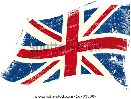 A british flag with a texture for you. - stock vector