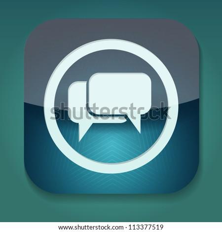 a bubble speech icon, eps10 vector - stock vector