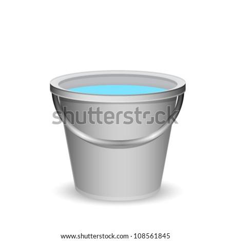 a bucket of water - stock vector