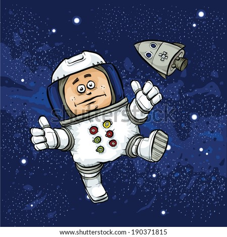 astronaut floating in space clipart - photo #17
