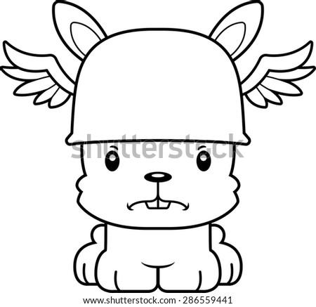 A cartoon Hermes bunny looking angry. - stock vector