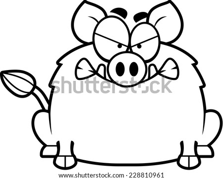 Stock Vector A Cartoon Pig With An Angry Expression also Warthog Vectors further Wild Hog furthermore  on scary boars head
