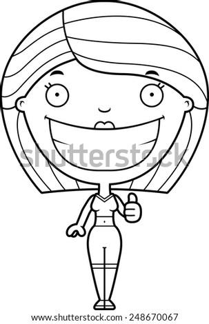Cartoon of woman giving facial