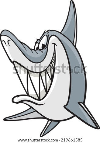 A cartoon Shark. Vector file available. Sneaky Shark - stock vector