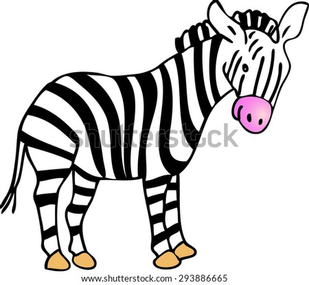 A cartoon stripey zebra