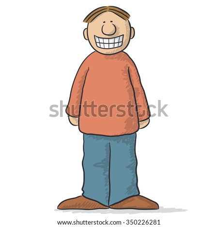 a character with a fake smile - stock vector