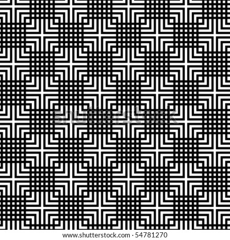 A checkered, vector pattern in black and white. - stock vector