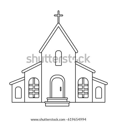 Church Cross On Roof Easter Single Stock Vector 619654994