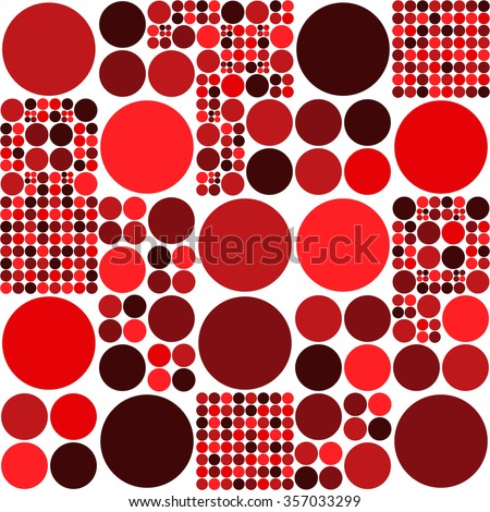 A Circle Pattern, Red Scale Color - Vector Graphic - stock vector