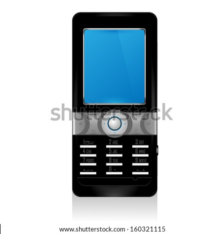 A classical black mobile phone