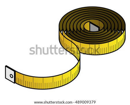 A coil of yellow tailor/dressmaker's measuring tape.
