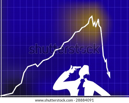 A collapse - stock vector