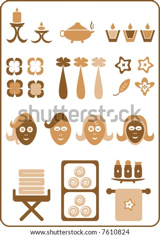 A collection of aromatherapy design elements. (Set No. 3) - stock vector