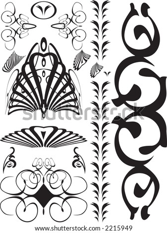 Gothic Designs collection black swirls gothic designs stock vector 2215949