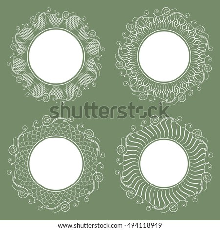Set lacy napkins invitations labels wedding stock vector 413914315 it can be used as a frame invitation stopboris Images