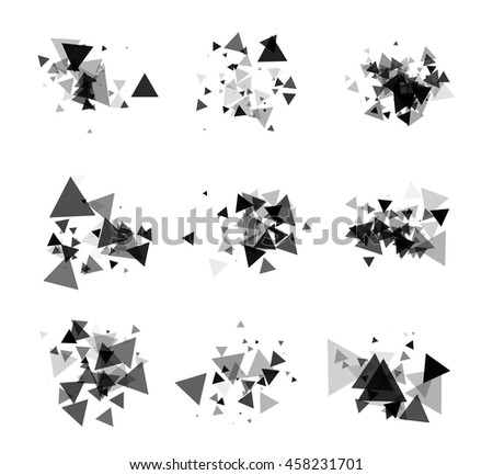 A collection of stand-alone monochrome black elements for design of posters, cards, brochures and site titles. Isolated objects on white background can be edited 4. Vector illustration - stock vector