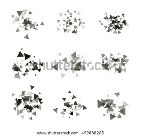 A collection of stand-alone monochrome black elements for design of posters, cards, brochures and site titles. Isolated objects on white background can be edited 3. Vector illustration - stock vector