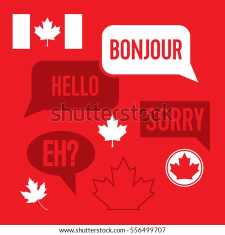 Collection stereotypical canadian phrases greetings vector stock a collection of stereotypical canadian phrases and greetings in vector format also included in this m4hsunfo