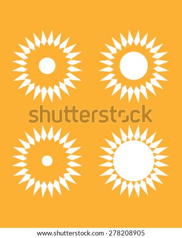 A collection of vector abstract sun graphics