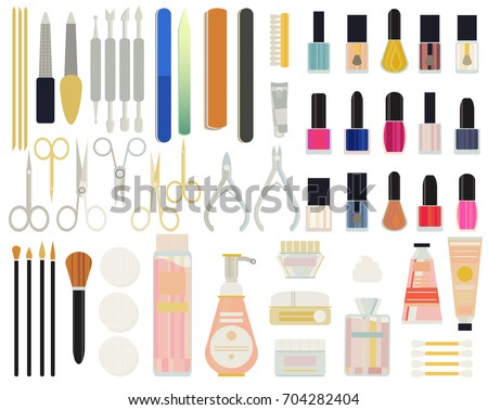 A Collection Set Vector Of Manicure Accessories