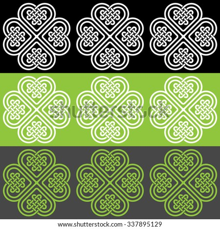 A color seamless pattern made of Celtic style knots, vector illustration