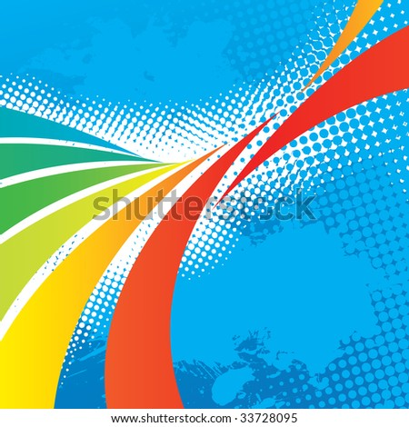 A colorful abstract design template with plenty of copyspace. This vector image makes a great background for any design. - stock vector