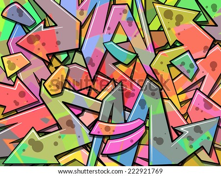 A Colorful Graffiti Background - stock vector
