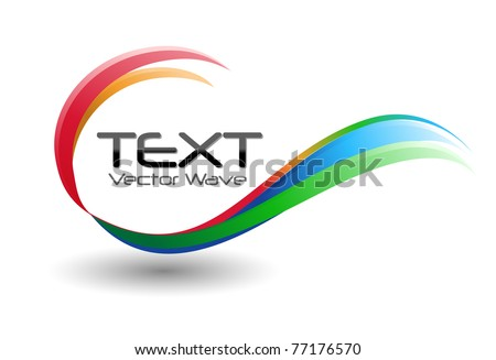 A colorful rainbow swirl icon symbol on a white background. - stock vector