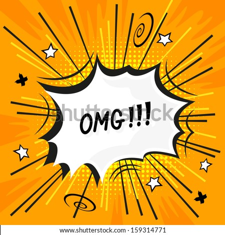 A comic strip explosion - vector illustration. - stock vector